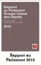 Rapport au Parlement GROUPE CDC 2012
