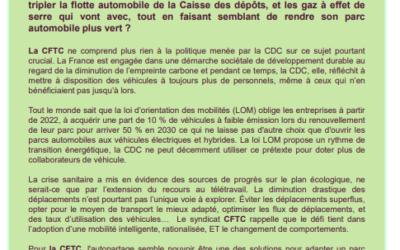 Tribune CFTC juillet 2021 : Véhicules de fonction  ou véhicules d'entreprise ?/ CPA