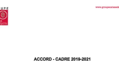 Accord Cadre 2019-2021